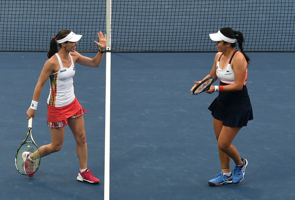Chan Yung-jan and Martina Hingis had not achieved satisfactory results this year | Photo: Tom Dulat/Getty Images Europe