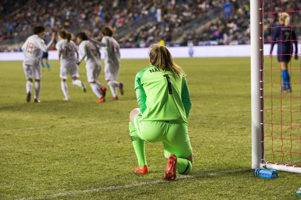 The backline for the USWNT has been shaky for some time | Source: Chris Szagola-AP