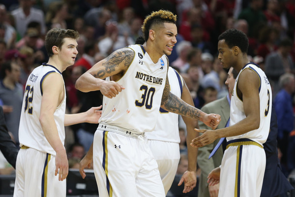 Zach Auguste is leading his team on a spirited run during this year's big dance (Photo: Streeter Lecka/Getty Images).