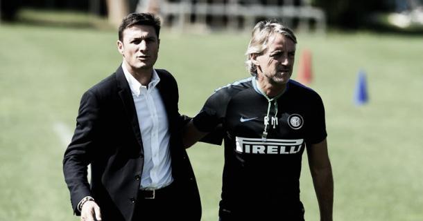 Zanetti and Mancini at Appiano Gentile | football5star.com