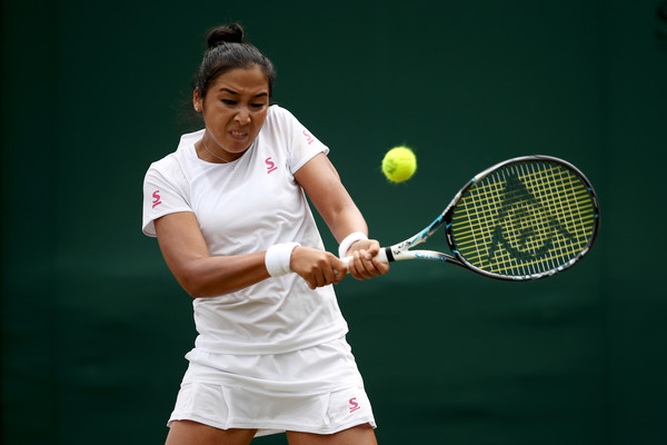 Zarina Diyas was playing some high-quality tennis today | Photo: Julian Finney/Getty Images Europe