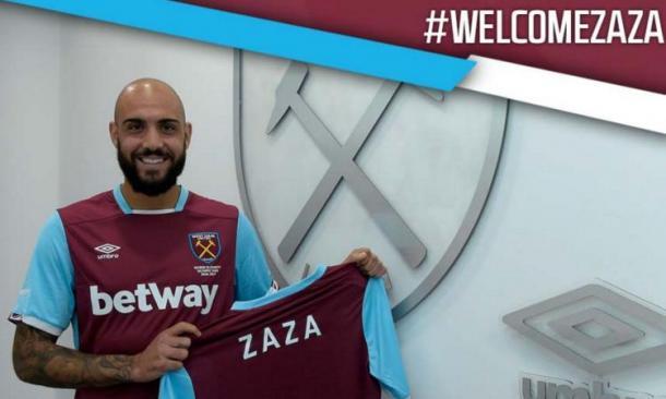 Il benvenuto del West Ham a Zaza, twitter @WestHamUtd