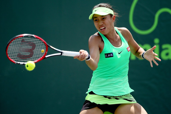 Zhang Shuai in action | Photo: Matthew Stockman/Getty Images North America