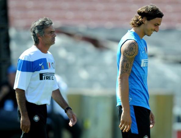 Mourinho and Zlatan at Inter Milan   Photo: Mark Ralston/AFP