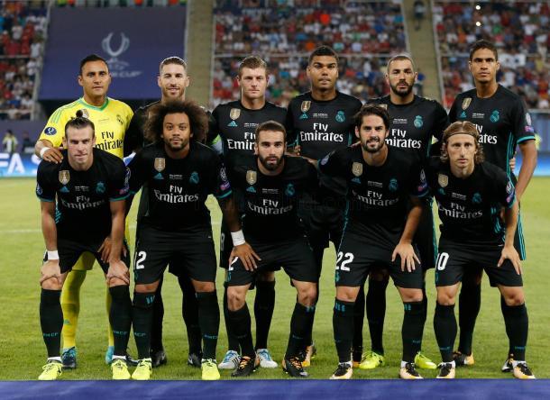 Once inicial del Real Madrid para la Supercopa de Europa | Foto: Real Madrid