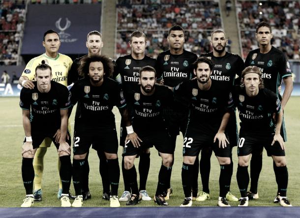 Los once titulares que salieron a la cancha | Foto: Real Madrid C.F.