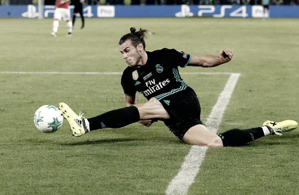 El galés, en su máximo esfuerzo | Foto: Ángel Martínez (Real Madrid C.F.)