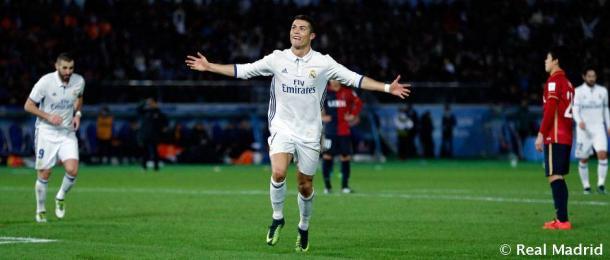 Cristiano Ronaldo, anotando un gol en la final del año pasado Fotografía: Real Madrid