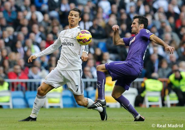 Cristiano ante el Espanyol en la temporada 2015-16. Fuente: Real Madrid