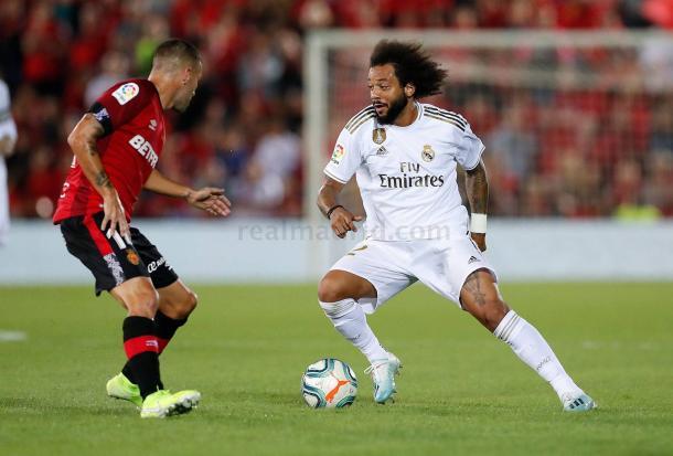 Marcelo ante el Mallorca. Real Madrid
