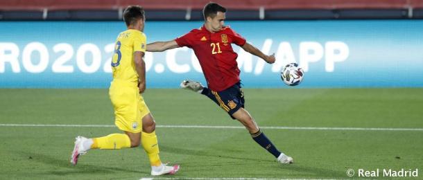 Reguilón debutó con la absoluta contra Ucrania | Foto: Real Madrid