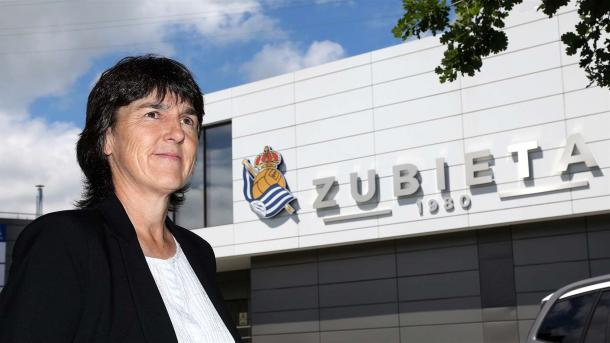 Garbiñe Etxeberria en las instalaciones de Zubieta. Foto: Real Sociedad