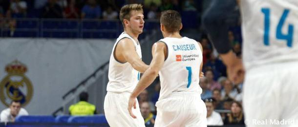 Doncic y Causeur están conectando bien en la pista (ACB.com)