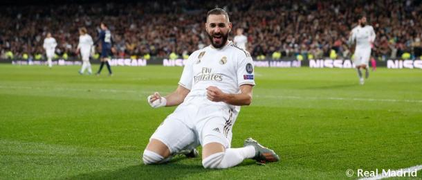 Karim Benzema tratará de anotar en Butarque pata apretar la lucha por el Trofeo Pichichi de LaLiga | Fuente: www.realmadrid.com