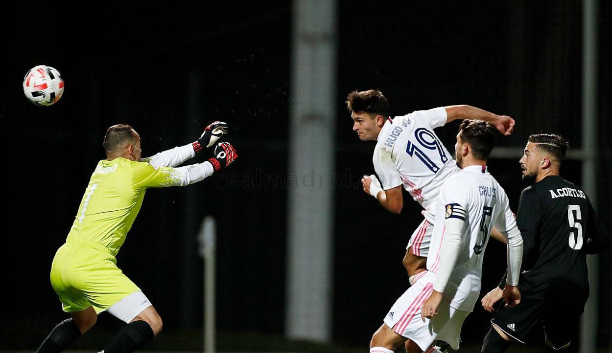 Hugo Duro anotó su quinto gol de la temporada | Fuente: www.realmadrid.com