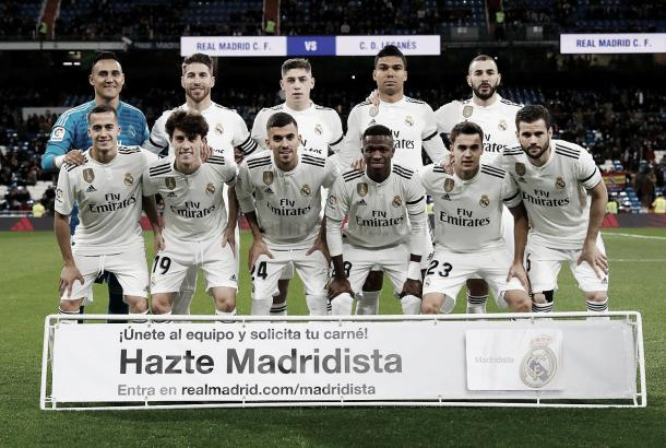 Los XI de Santiago Solari en la ida | Foto: Real Madrid CF