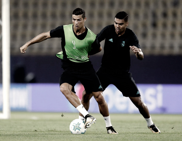 A Cristiano Ronaldo se lo vio de la mejor manera | Foto: Real Madrid C.F.