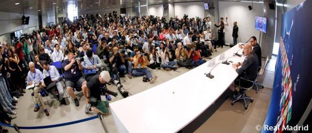 Así estaba la sala de prensa del Open Media Day/ FOTOGRAFÍA: Real Madrid.
