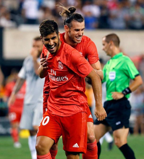 Bale y Asensio, autores de los dos goles/ Foto: Real Madrid