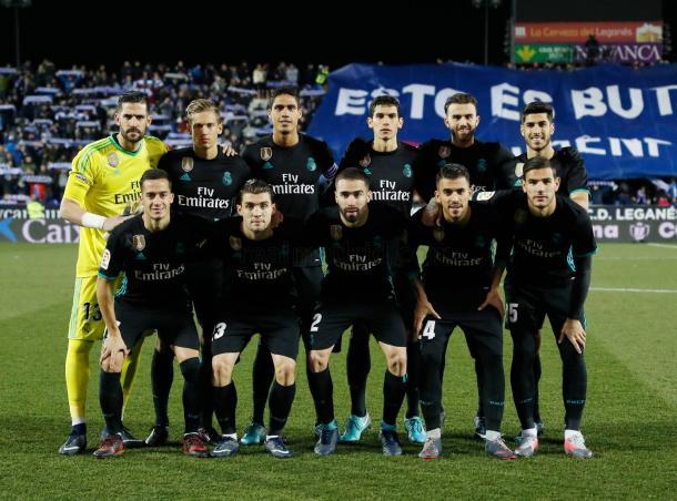 Once inicial del Real Madrid ante el Leganés. Fuente: Realmadrid.com