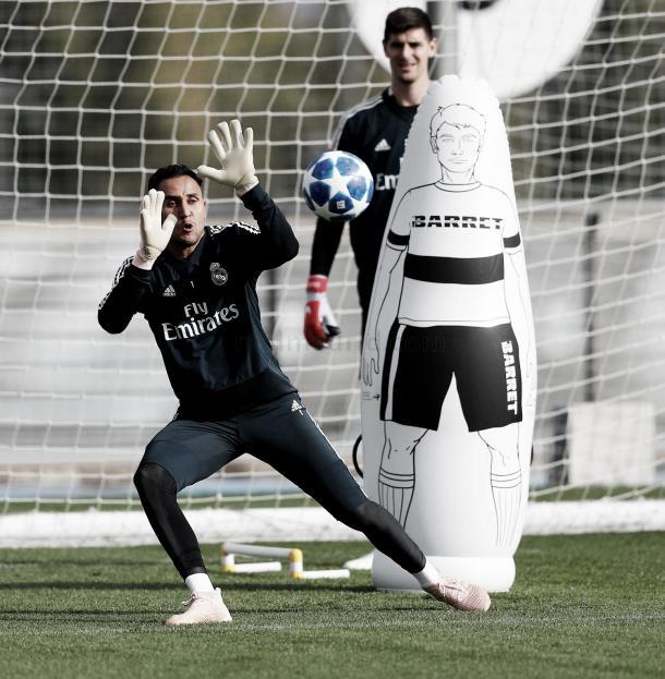 Navas y Courtois aseguran la portería blanca | Foto: Real Madrid C.F.