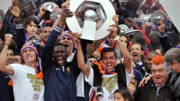 Montpellier beat PSG to the Ligue 1 title in the 2011/12 Ligue 1 season. (Image source: BBC)