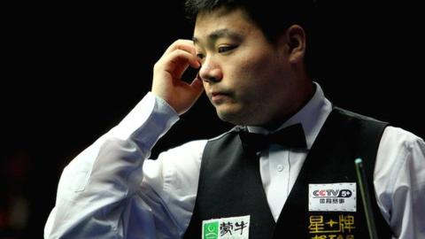 Local hero Ding Junhui is also out of the competition (photo : Getty Images )