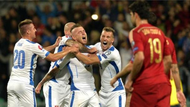 Slovakia defeated Spain during qualification (photo: Getty Images)