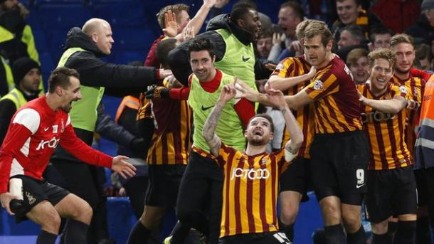 The Bantams recorded a big 4-2 win at Stamford Bridge at this stage in last season's competition. | Photo: BBC