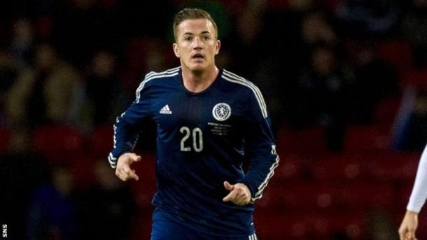 McCormack con la camiseta de Escocia. Foto: BBC