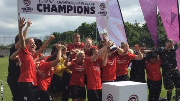 Sheffield FC will compete in the competition for this first time in 2016 after winning promotion from the FA Women's Premier League earlier this year. (Photo: BBC Sport)