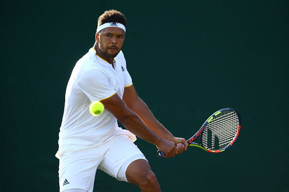 Jo-Wilfried Tsonga in action during his five set loss to Sam Querrey at Wimbledon (Photo: Chaz Neill/Icon Sportswire)