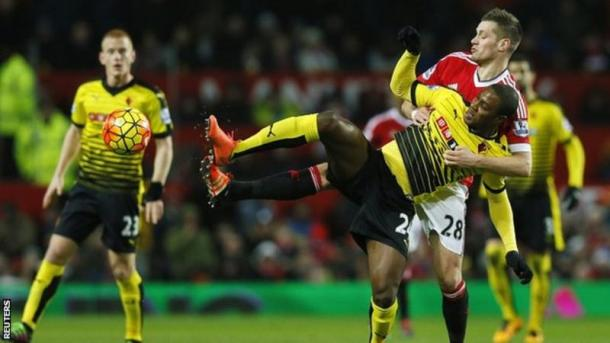 Ighalo was one of those guilty of missing chances at Old Trafford. | Photo: Reuters