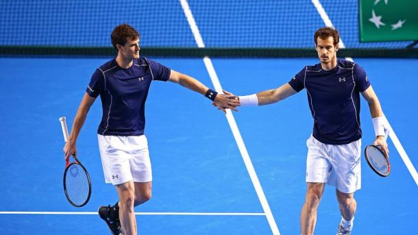 Four successive Davis Cup match wins in doubles for the Murray's