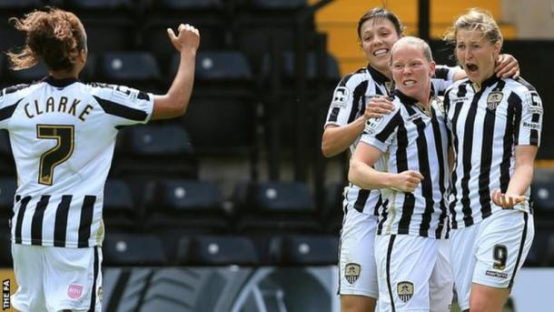 Ellen White celebrates scoring the winner against Doncaster | Photo: BBC Sport