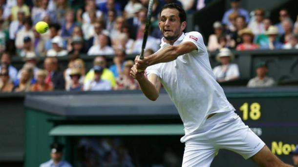 James Ward was playing out on Centre Court for the first time and reached the third round here last year. Photo: Getty