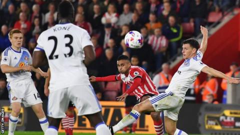 Boufal's fantastic strike lit up a dull night at St Mary's. Photo: Getty.