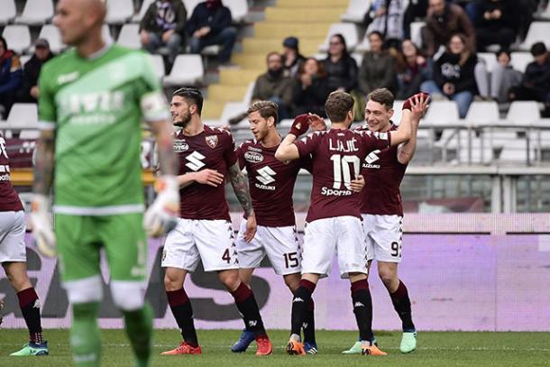 Imagen del último partido del Torino. Foto: torinofc.it