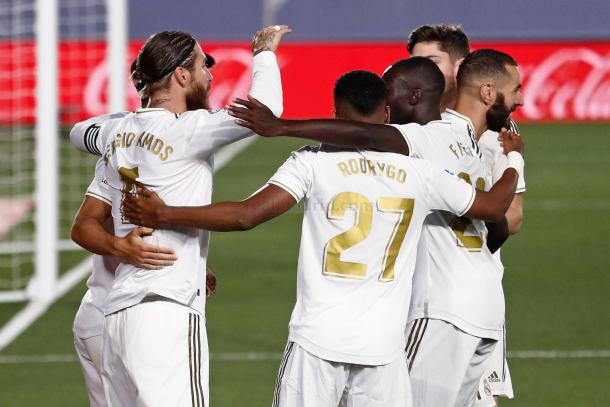 El Real Madrid lleva seis de seis victorias desde la reanudación de la Liga | Foto: Real Madrid