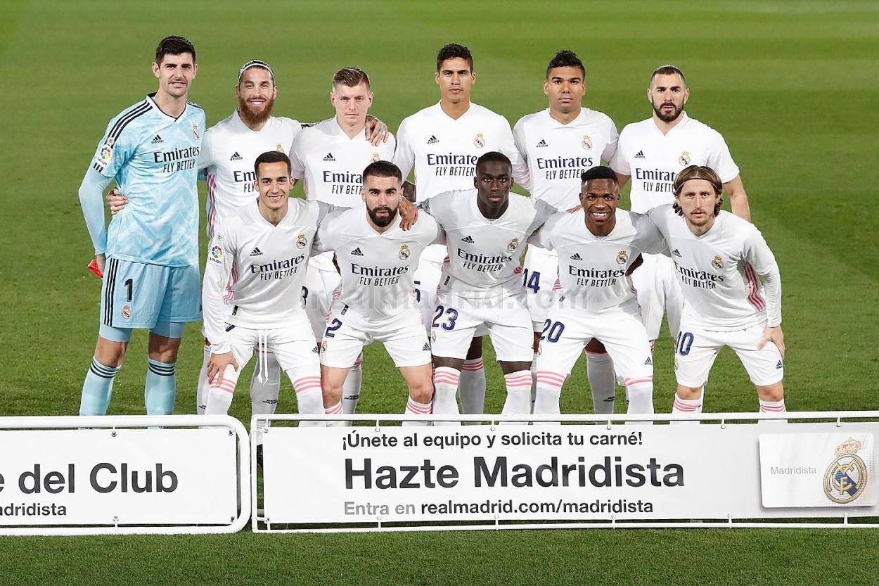 Once inicial del Real Madrid en el derbi. Fuente: realmadrid.com