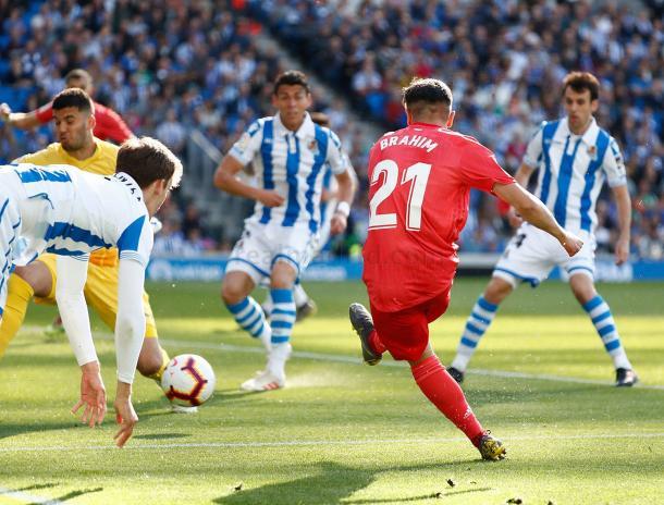 Gol de Brahim ante la Real. Fuente: Real MAdrid