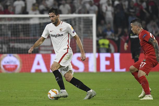 Franco Vázquez contra Akhisaspor | Foto: Sevilla FC