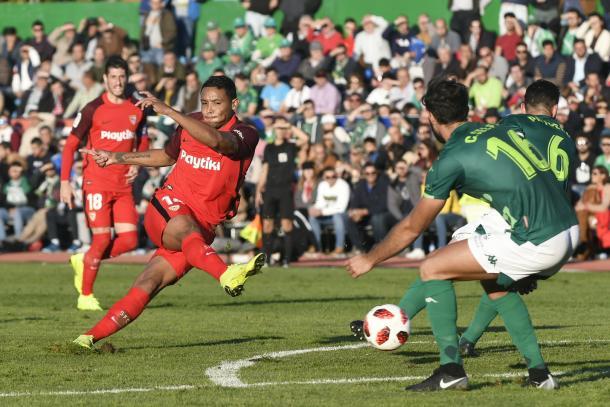 Muriel en la ida de Copa del Rey   Foto: Sevilla FC