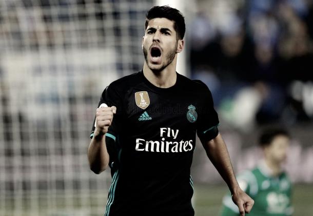 Marco Asensio celebrando su gol | Foto: Real Madrid CF