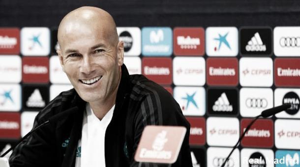 Entrevista coletiva de Zinedine Zidane | Foto: Divulgação/Real Madrid CF