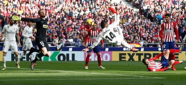 Con Casemiro, si no es golazo no vale /Foto: Real Madrid C.F