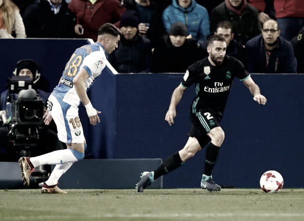 Carvajal frente a Naranjo | Foto: Real Madrid CF