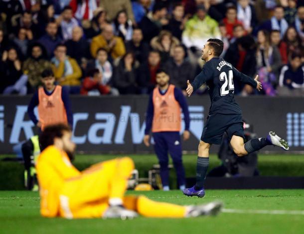 Dani Ceballos festeja su golazo en el minuto 91 I Foto: Real Madrid