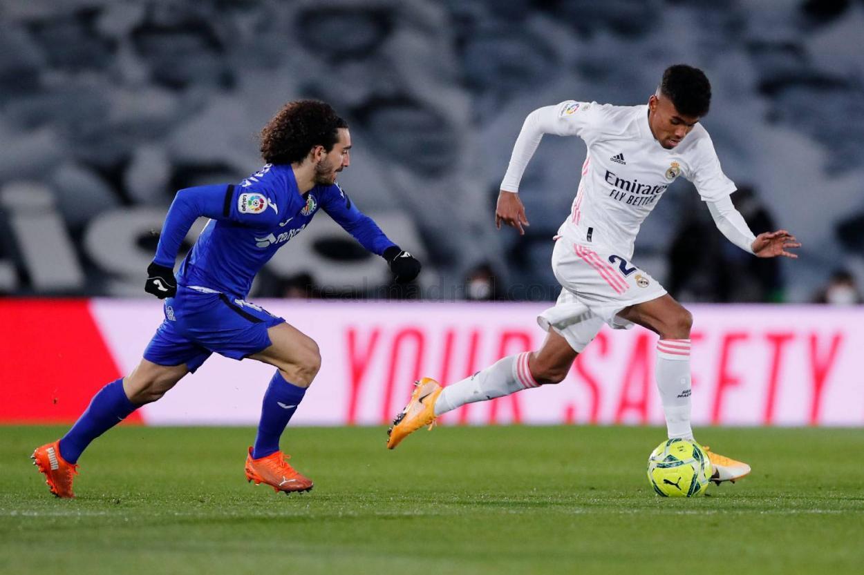 Marvin Park durante el encuentro ante el Getafe | Fuente: Real Madrid