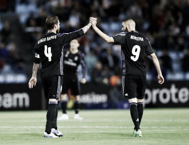 El Madrid celebró el importante triunfo ante el Celta. | Foto: (realmadrid.com)